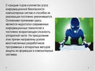 С каждым годом количество угроз информационной безопасности компьютерных сист