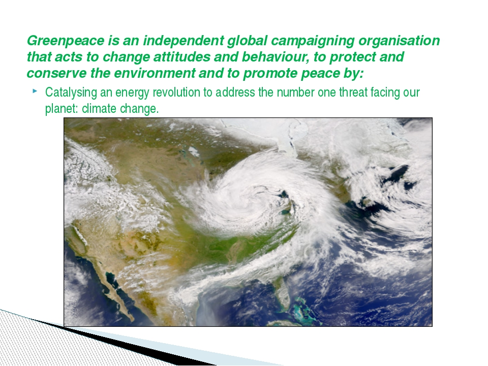 Greenpeace is an independent global campaigning organisation that acts to cha...