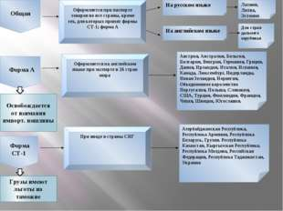 Общая Форма А Форма СТ-1 Оформляется при паспорте товаров во все страны, кро