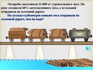 Лесорубы заготовили 32 000 м3 строительного леса. По реке сплавили 60% загот