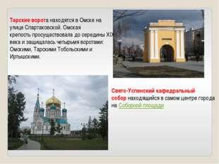 Тарские ворота находятся в Омске на улице Спартаковской. Омская крепостьпрос