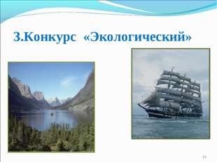 3.Конкурс «Экологический» *