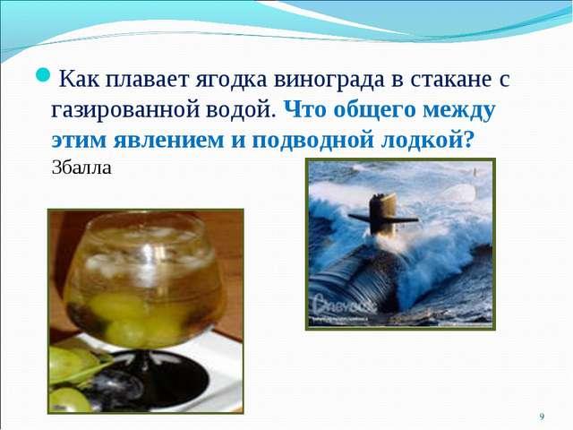 Как плавает ягодка винограда в стакане с газированной водой. Что общего между...