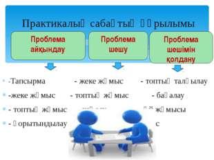 -Тапсырма - жеке жұмыс - топтық талқылау -жеке жұмыс - топтық жұмыс  - ба