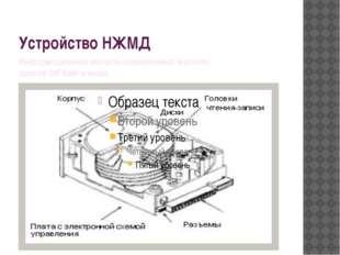 Устройство НЖМД Информационная емкость современных жестких дисков 20Гбайт и в