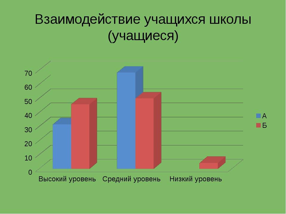 Взаимодействие учащихся школы (учащиеся)