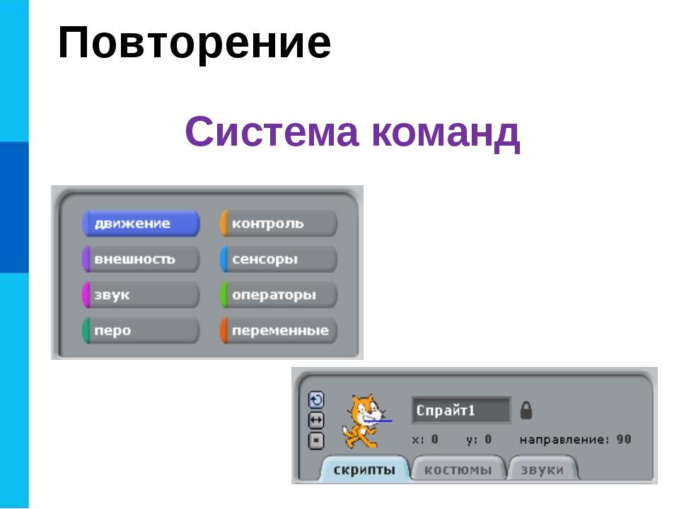 Система команд Повторение