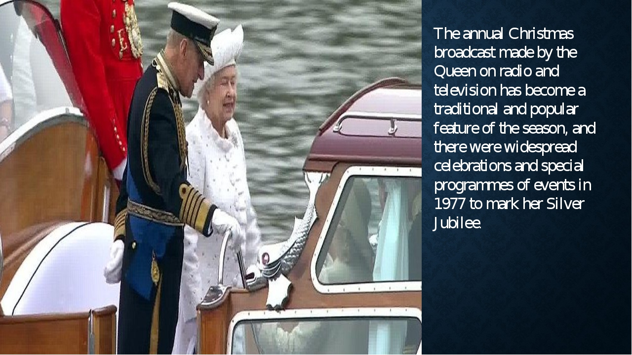 The annual Christmas broadcast made by the Queen on radio and television has...