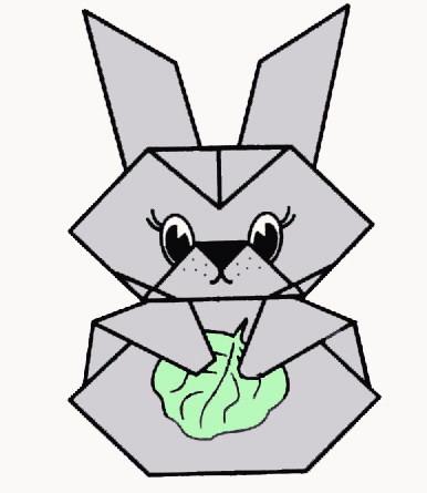 Схемы оригами - Куклы наперстки Заяц