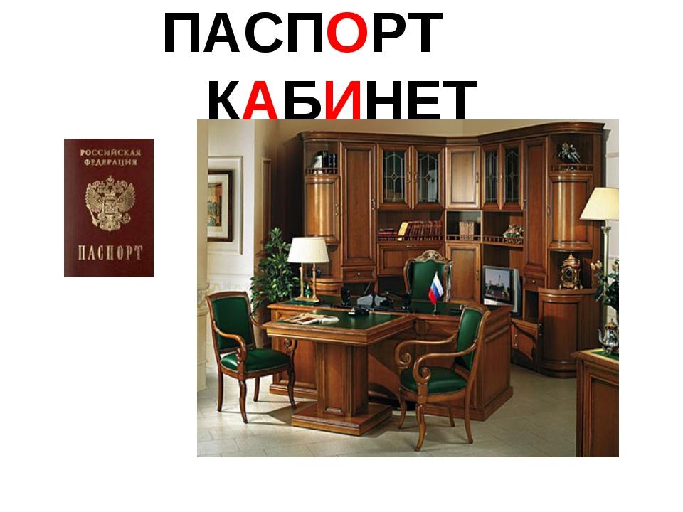 ПАСПОРТ КАБИНЕТ