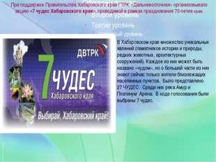 При поддержке Правительства Хабаровского края ГТРК «Дальневосточная» организ