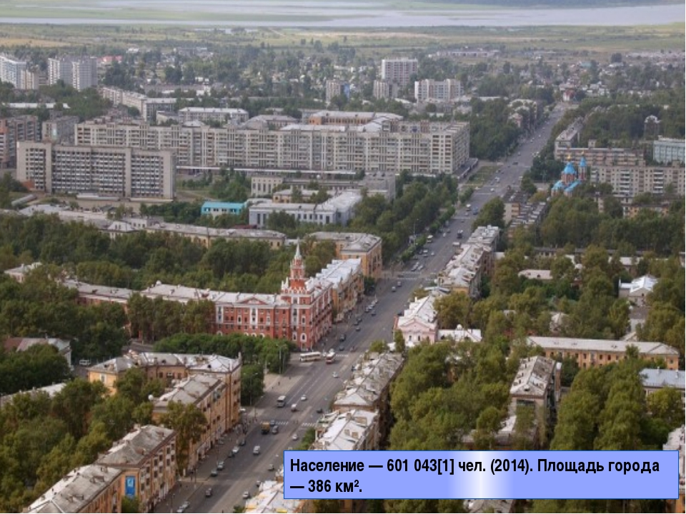 Население — 601 043[1] чел. (2014). Площадь города — 386 км².