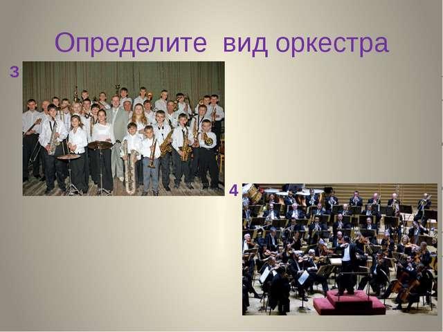 Определите вид оркестра 3 4