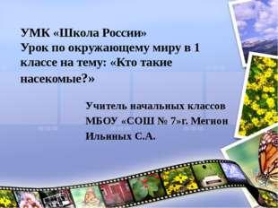 УМК «Школа России» Урок по окружающему миру в 1 классе на тему: «Кто такие на