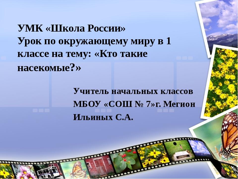 УМК «Школа России» Урок по окружающему миру в 1 классе на тему: «Кто такие на...