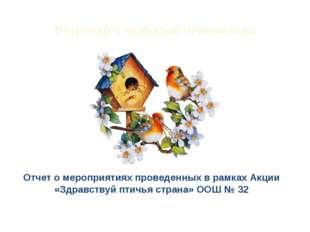 Встречай с любовью птичьи стаи Отчет о мероприятиях проведенных в рамках Акци