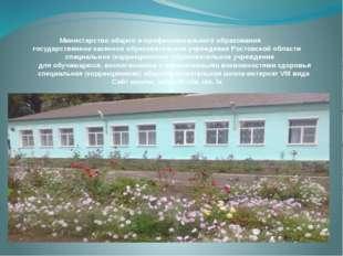 Министерство общего и профессионального образования государственное казенное