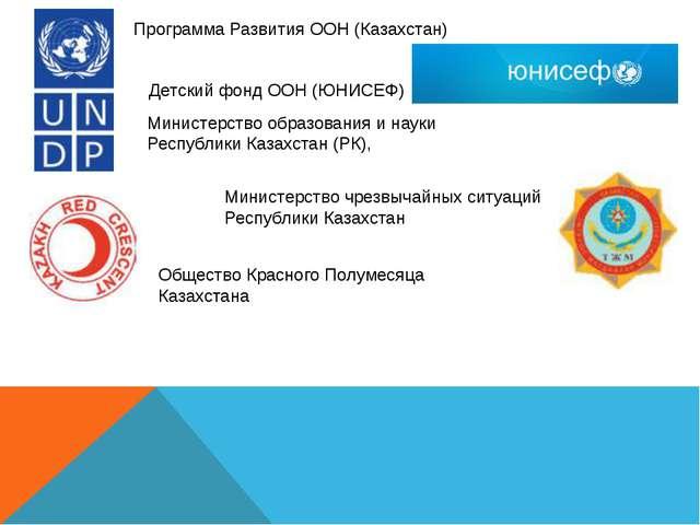 Общество Красного Полумесяца Казахстана Программа Развития ООН (Казахстан) Ми...