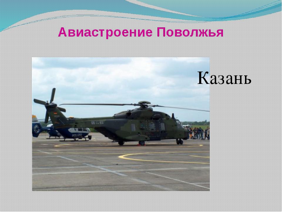 Авиастроение Поволжья Казань