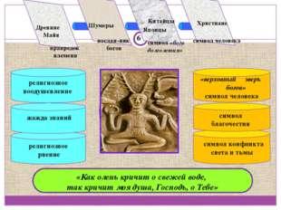 религиозное рвение «верховный зверь богов» символ человека Concept «Как олень