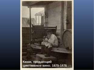 Казак, продающий цимлянское вино. 1875-1876