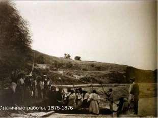 Станичные работы. 1875-1876