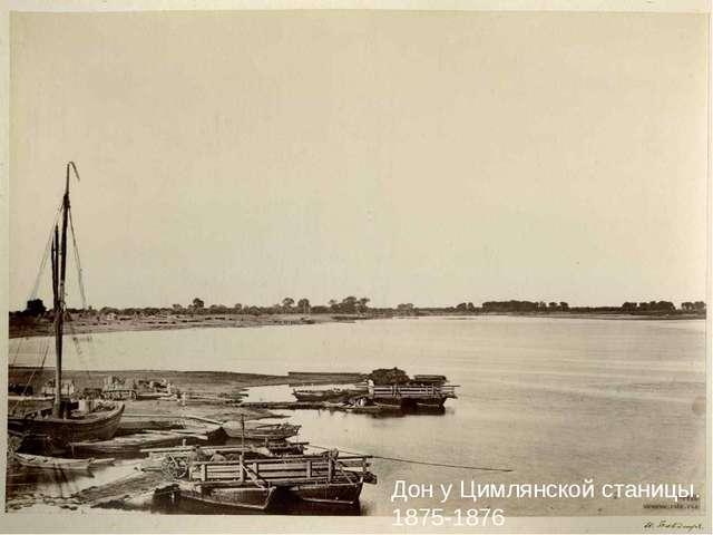 Дон у Цимлянской станицы. 1875-1876