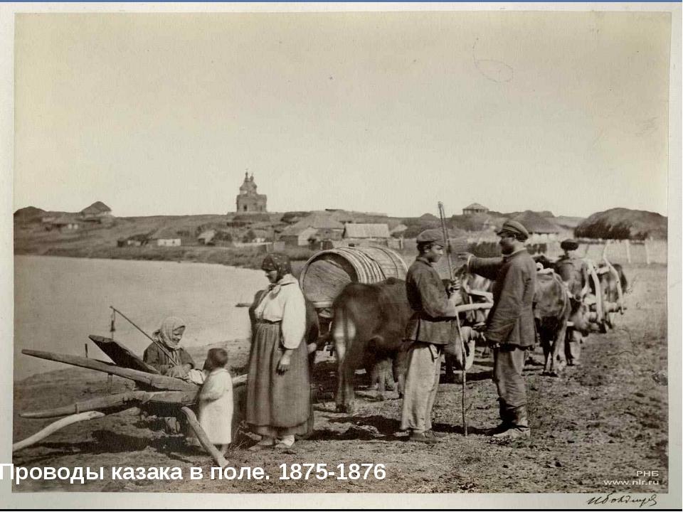 Проводы казака в поле. 1875-1876