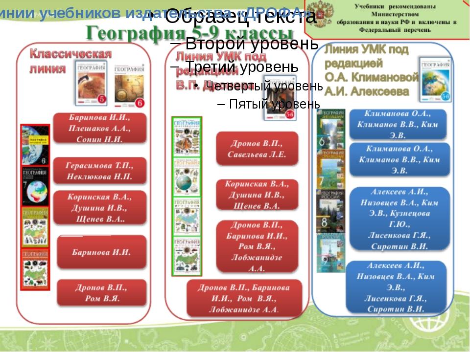 Линии учебников издательства «ДРОФА»
