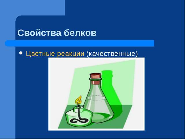 Свойства белков Цветные реакции (качественные)