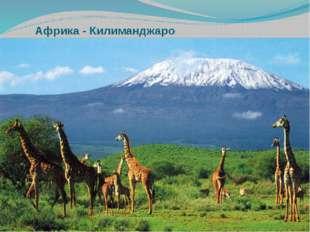 Вулкан Килиманджаро находится в 3-х градусах к югу от экватора .Вулкан высот