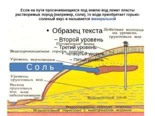 Если на пути просачивающихся под землю вод лежат пласты растворимых пород (на