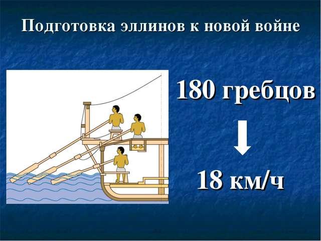 Подготовка эллинов к новой войне 180 гребцов 18 км/ч