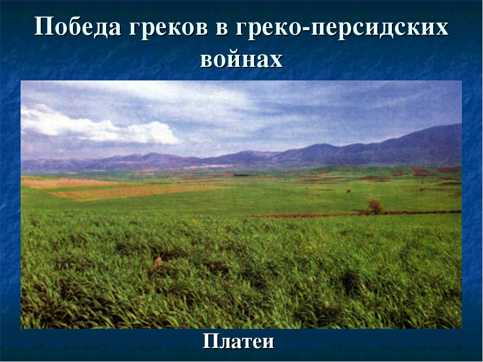 Победа греков в греко-персидских войнах Платеи
