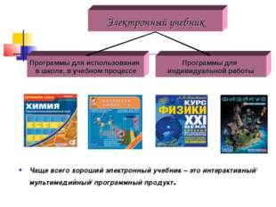 Чаще всего хороший электронный учебник – это интерактивный1 мультимедийный2