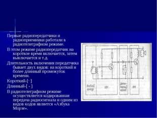 Первые радиопередатчики и радиоприемники работали в радиотелеграфном режиме.