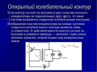 Если контур состоит из катушки и двух пластин плоского конденсатора, не парал