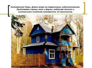 Беловежская Пуща. Домик егеря на территории зубропитомника. Проблемами охраны