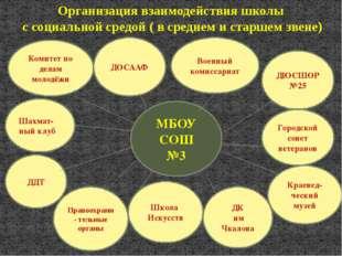 МБОУ СОШ №3 Военный комиссариат ДЮСШОР №25 Городской совет ветеранов Краевед-
