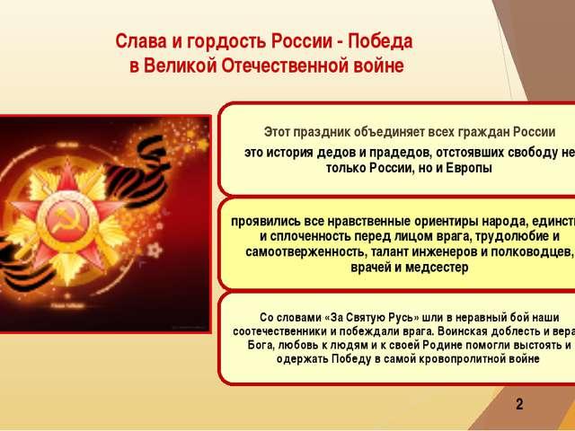 Слава и гордость России - Победа в Великой Отечественной войне