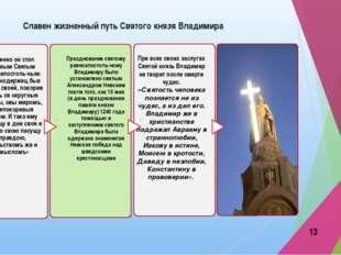 Славен жизненный путь Святого князя Владимира При всех своих заслугах Святой