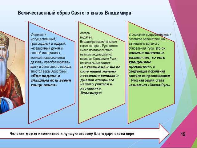 Величественный образ Святого князя Владимира В сознании современников и потом...