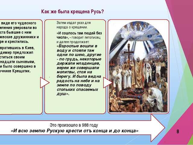 Как же была крещена Русь? Это произошло в 988 году «И всю землю Рускую крести...