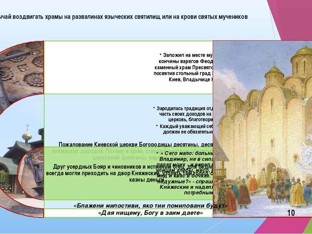 Обычай воздвигать храмы на развалинах языческих святилищ или на крови святых...