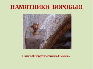 ПАМЯТНИКИ ВОРОБЬЮ Санкт-Петербург «Чижик-Пыжик»