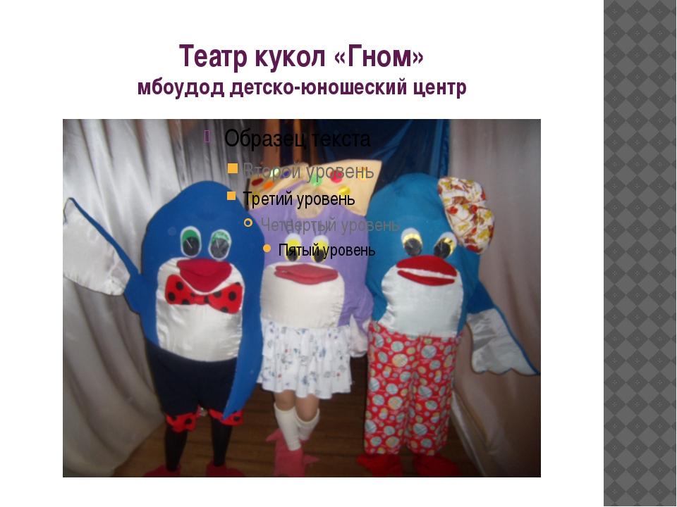 Театр кукол «Гном» мбоудод детско-юношеский центр