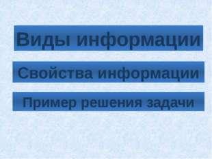 Визуальная (зрительная) информация Визуальная информация – это сведения получ