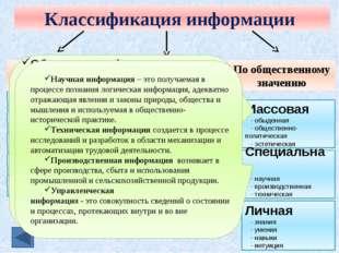 Аудиальная (звуковая) информация Аудиальная информация – это сведения получен
