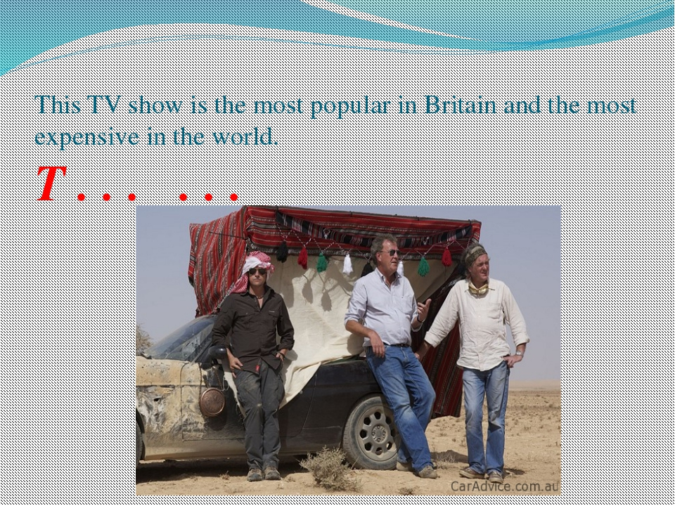 This TV show is the most popular in Britain and the most expensive in the wor...