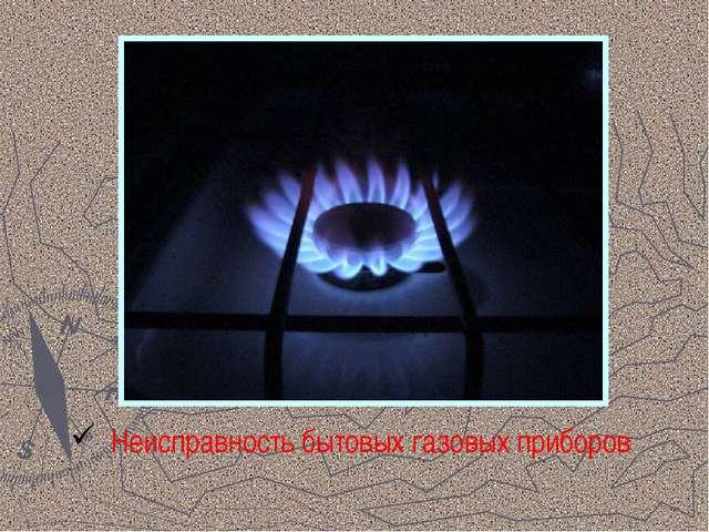 Неисправность бытовых газовых приборов